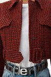 cropped belted jacket