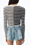 CONTRAST STRIPE LONG SLEEVE TEE