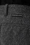 粗花呢印花装饰氨纶长裤