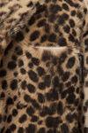 cheetah print robe coat
