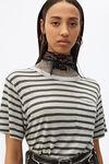 条纹竹节口袋T恤