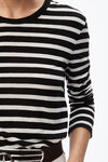 wide stripe long sleeve tee