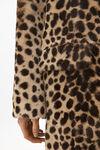 豹纹印花长袍外套