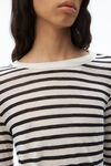 striped slub jersey tee