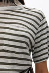 striped slub pocket t-shirt