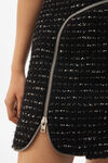 CURVED ZIPPER SHIFT DRESS
