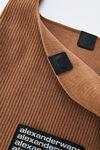 knit chenille shopper