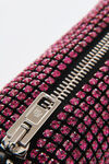 chain mesh rhinestone pouch